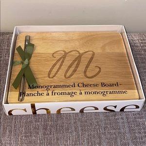NWT ~ Monogrammed Cheese Board